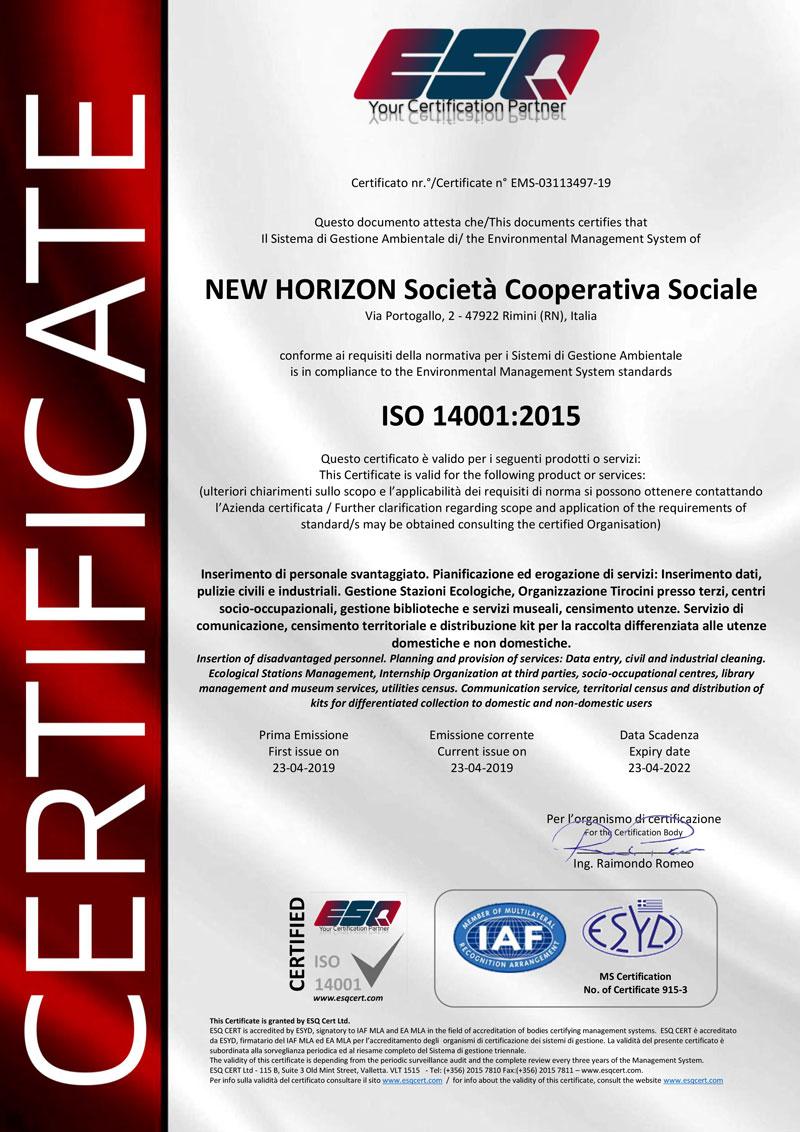 ISO14001-2015---NEW-HORIZON---EMS-Certificate